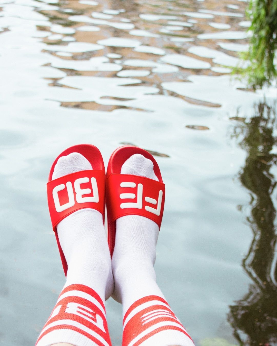 Febo badslippers sokken