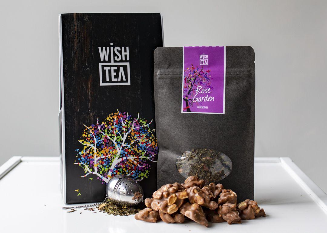 Cadeaubox pindarotsjes Wish Tea thee pesten