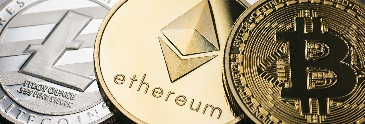 Cryptocurrency bitcoin ethireum munten