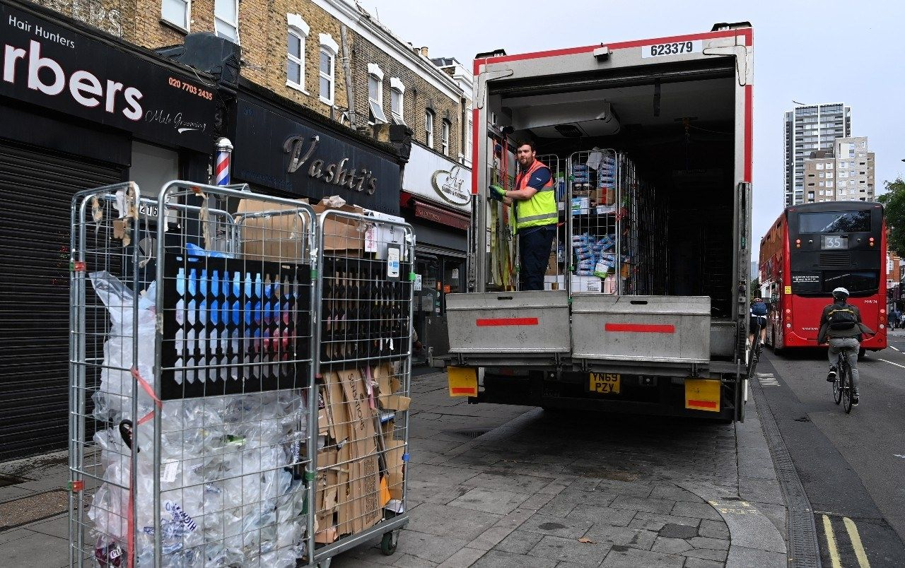 Brexit vrachtwagen