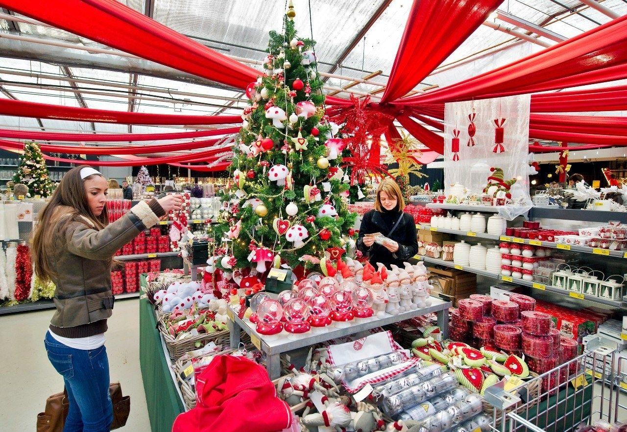 Kerst kerstwinkel tuincentrum