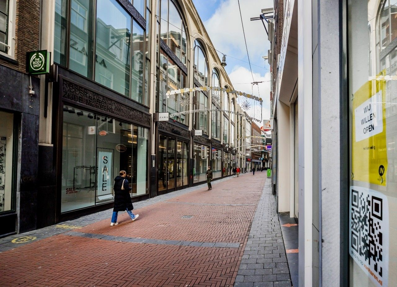 Winkelstraat leeg lockdown corona