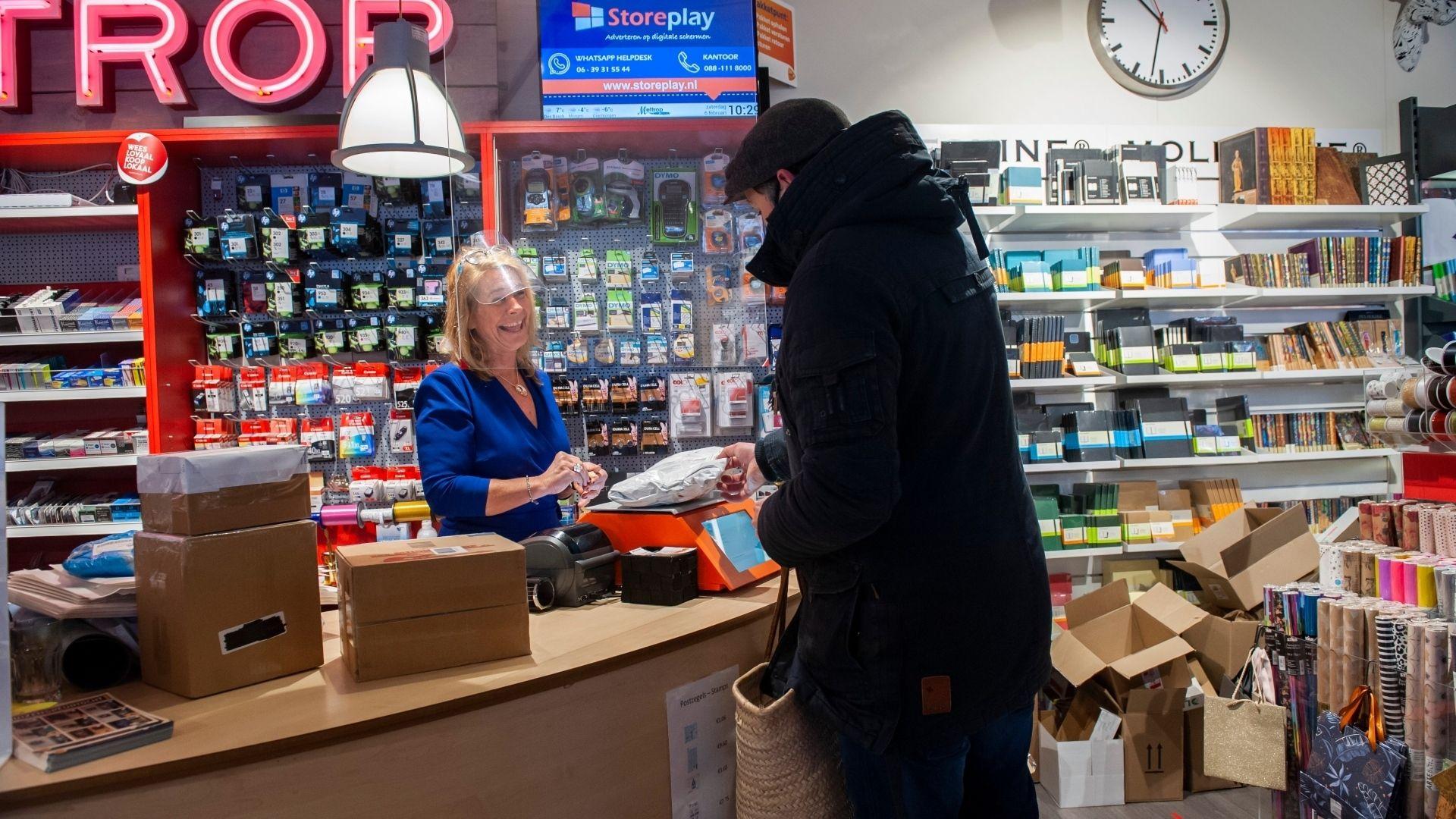 Click and collect afhalen winkel klant