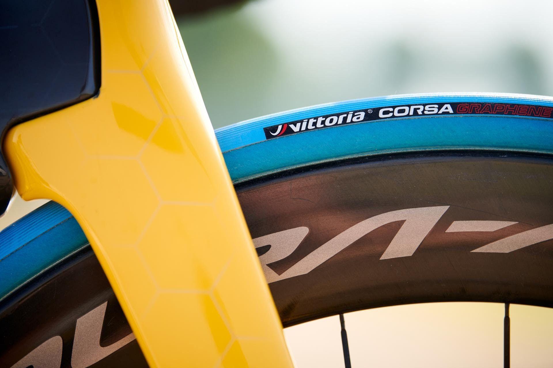 Blauwe fietsband tour de france