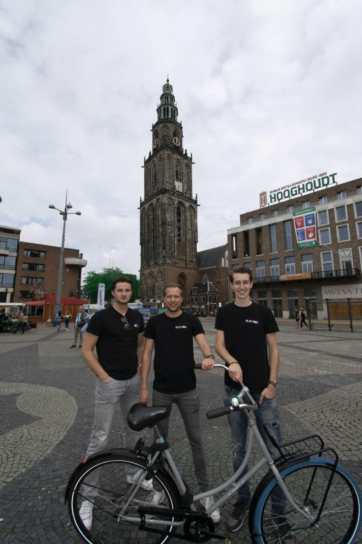 Flitsbel led verlichting groningen fiets innovatie student company2