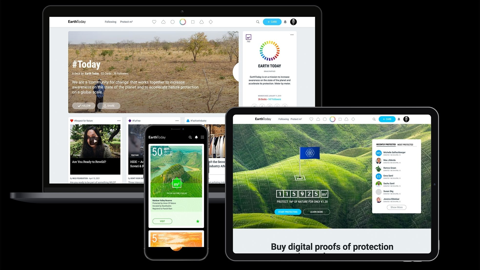 Earth Today devices protect