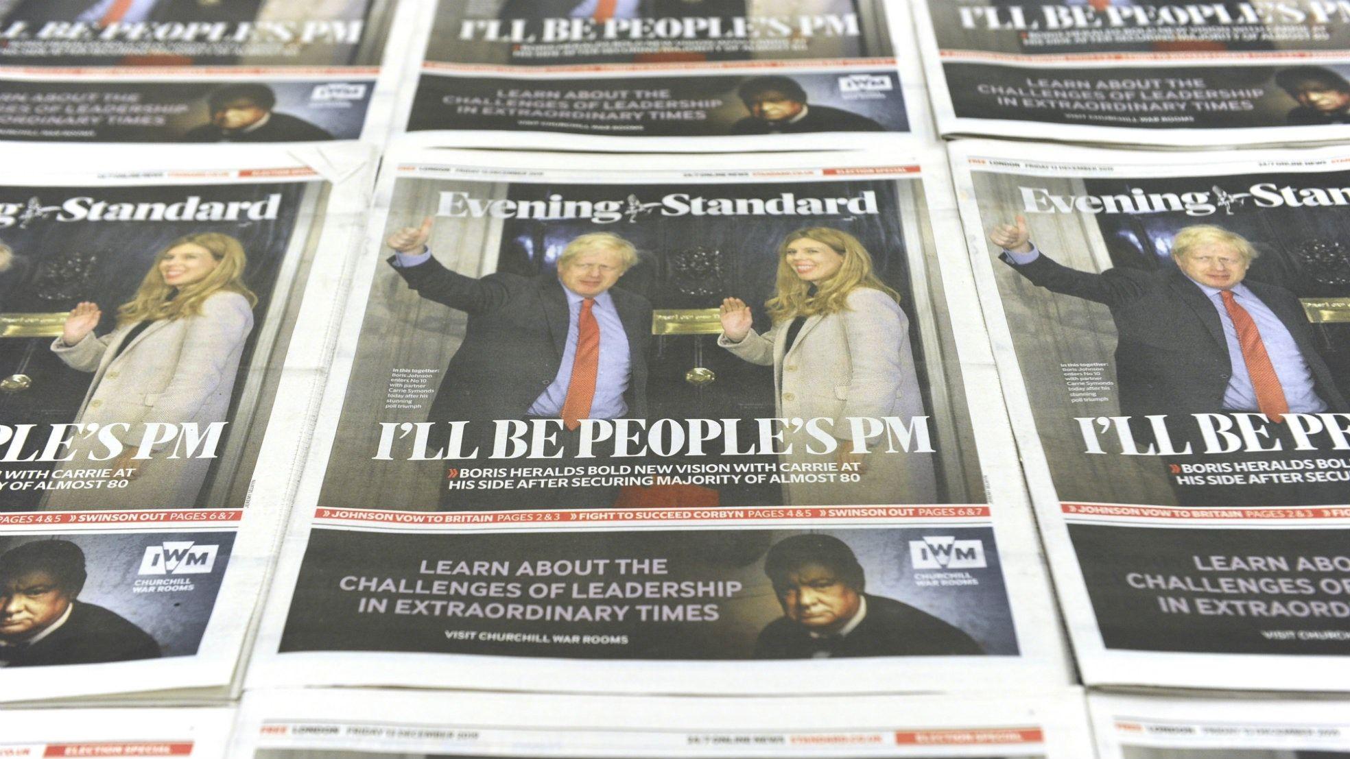 Boris Johnson winst Brexit kranten