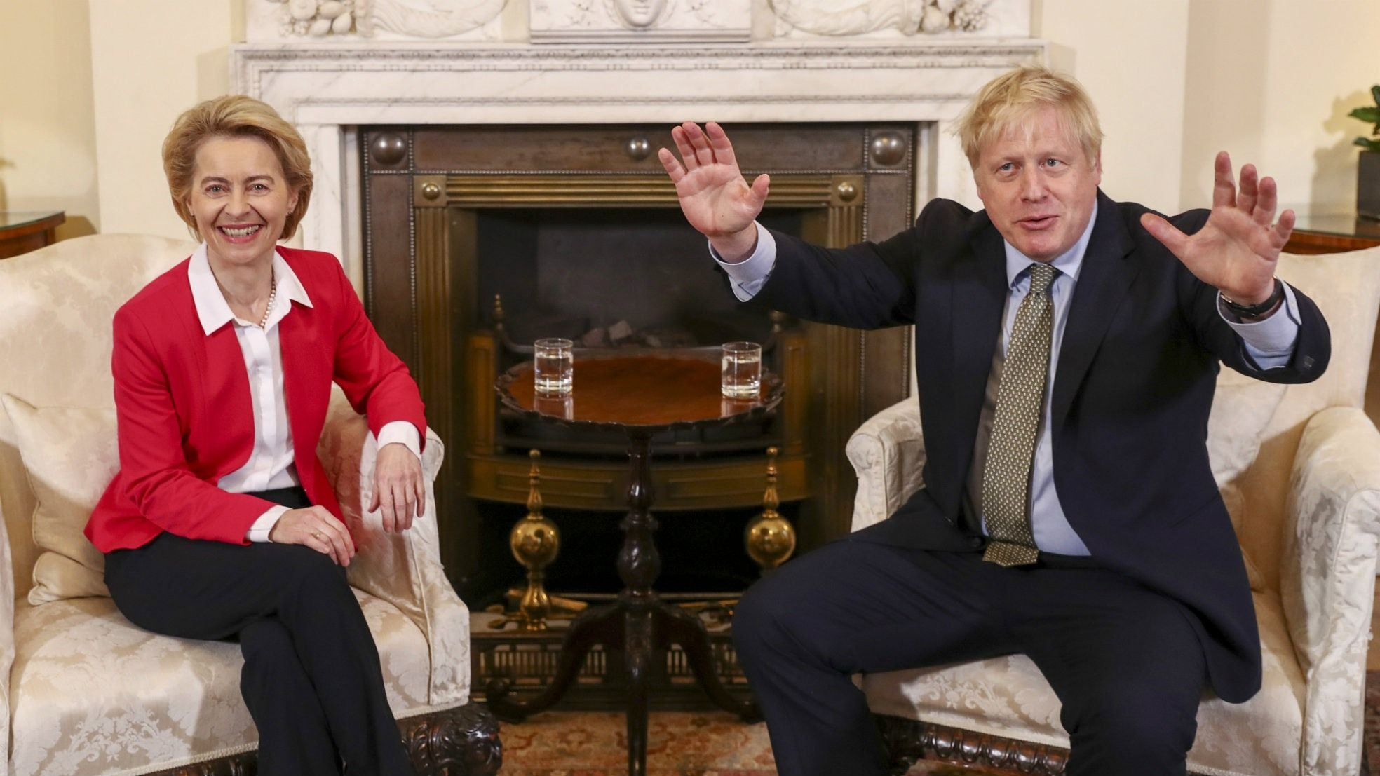 Vonder Leyen Johnson Downingstreet Brexit