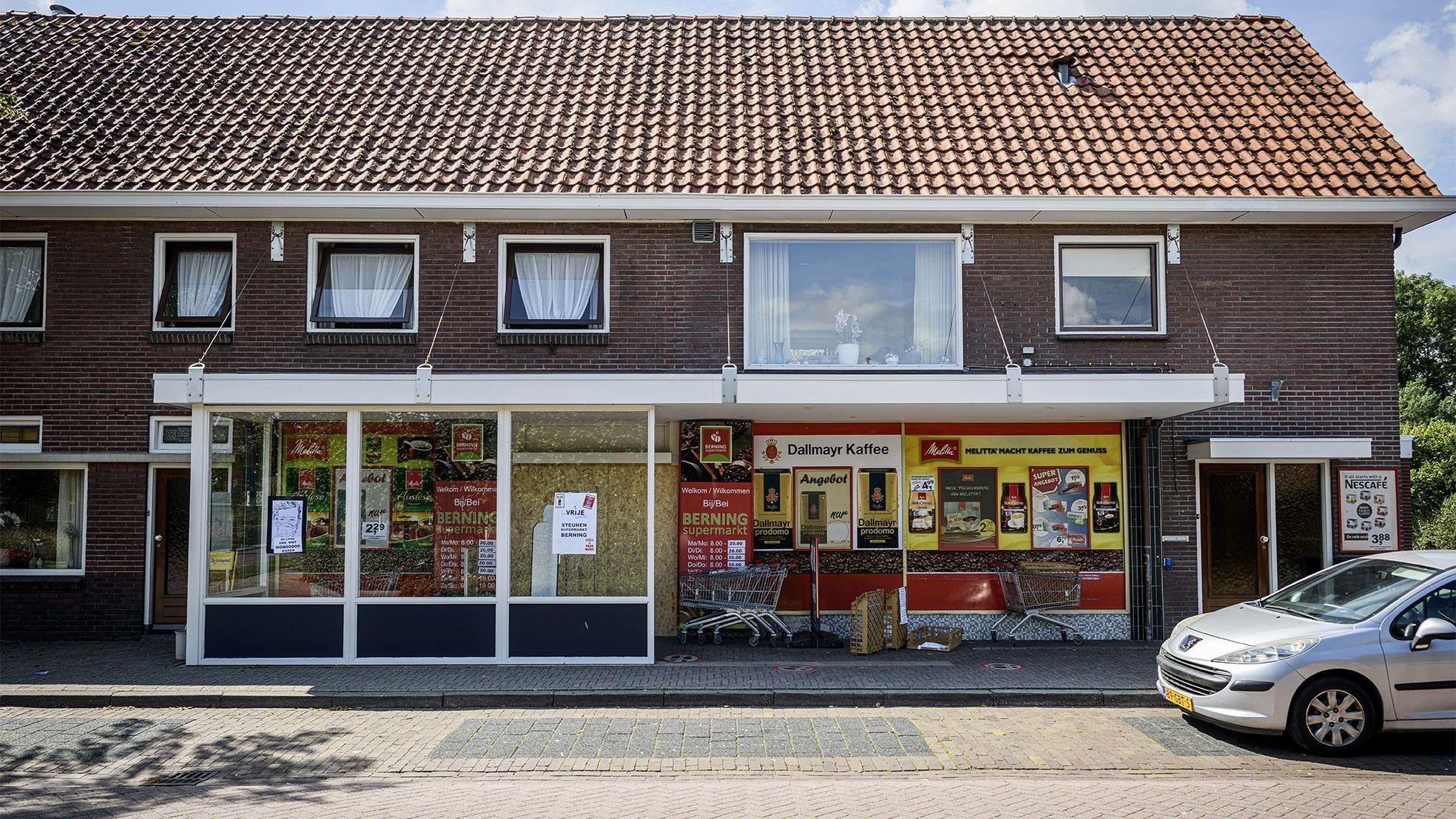 Supermarkt gesloten berning pand