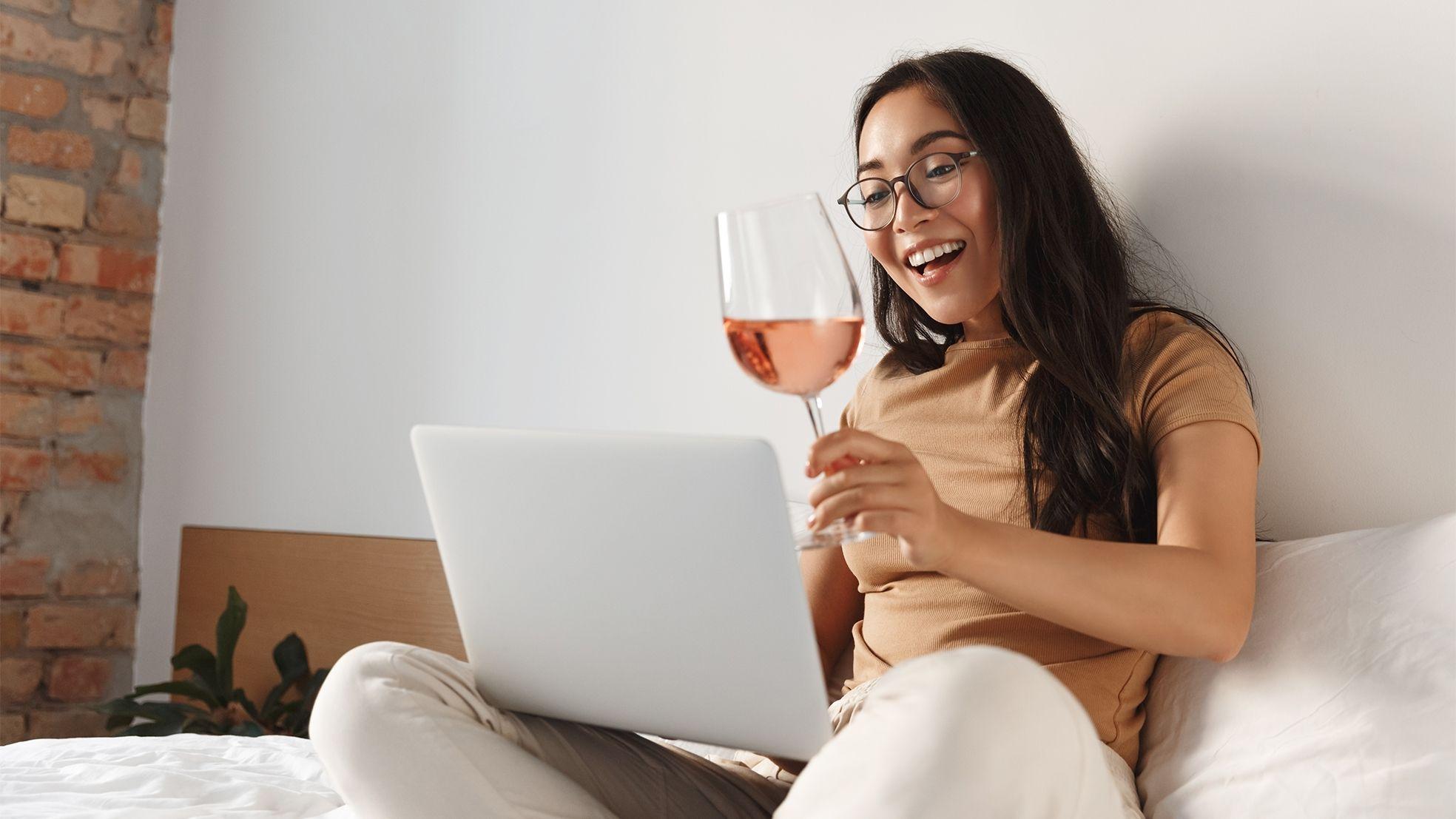 Wijn glas vrouw