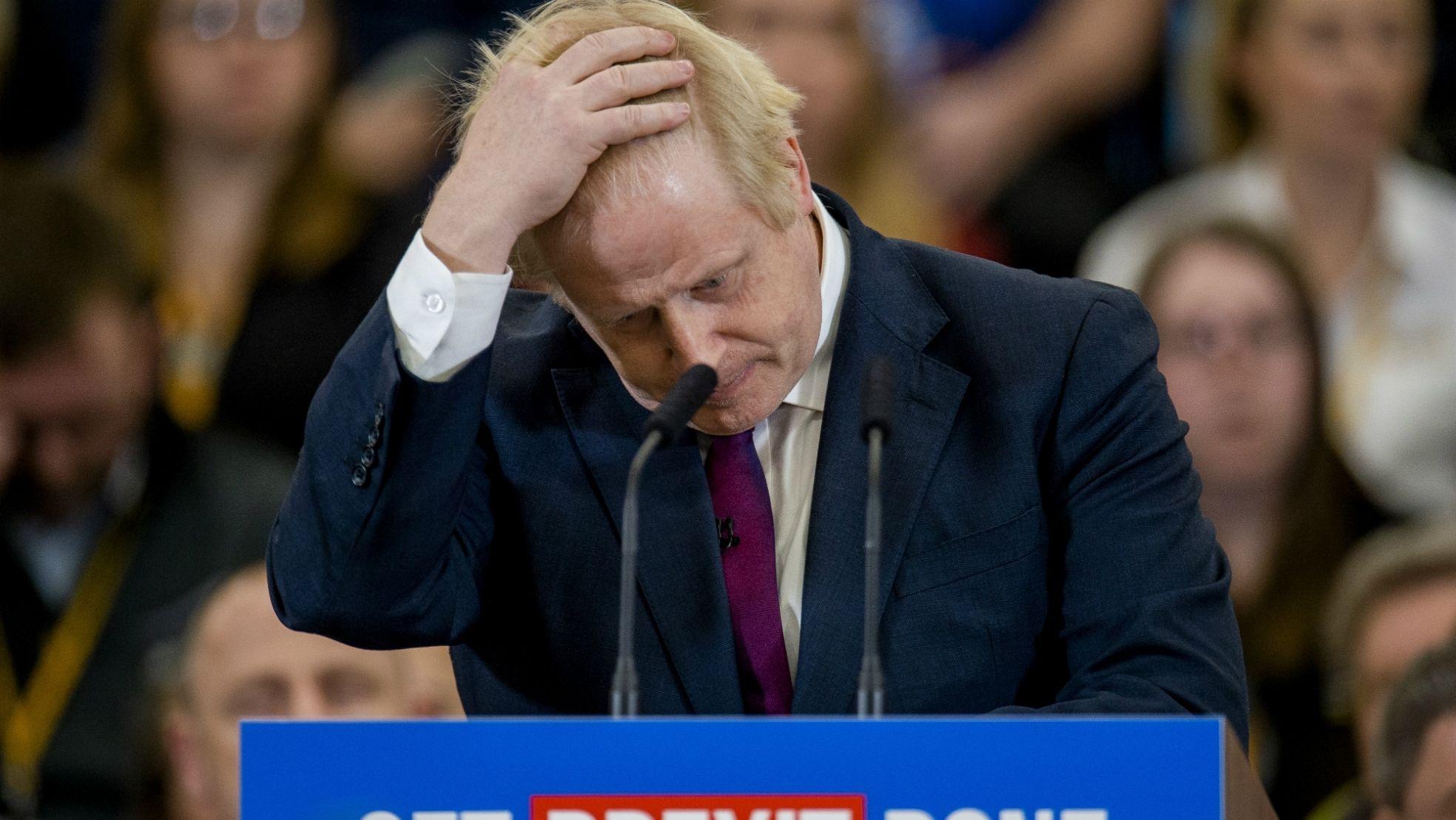 Boris Johnson handeninhaar