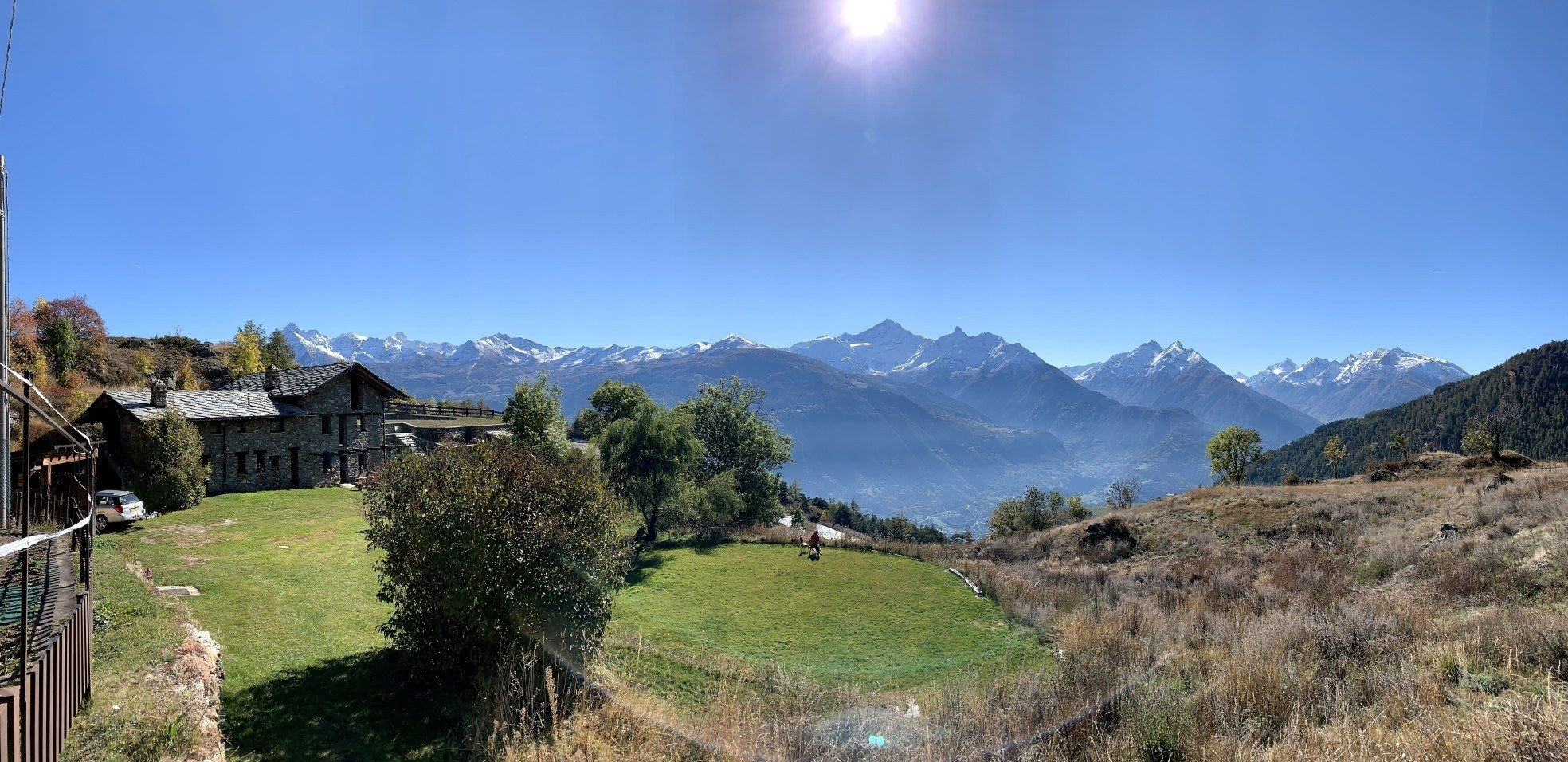 Panorama italie bergen huis