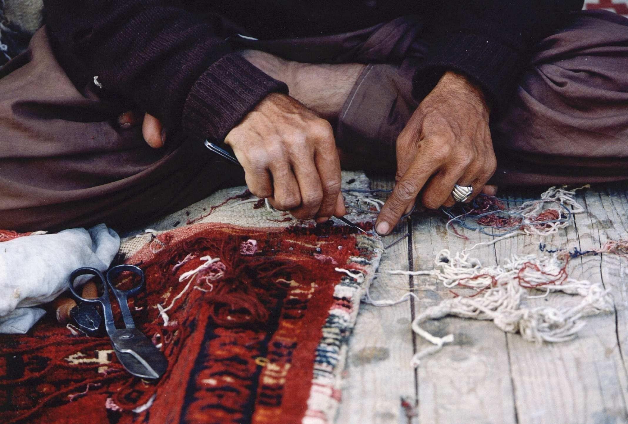 Afghanistan tapijten maken
