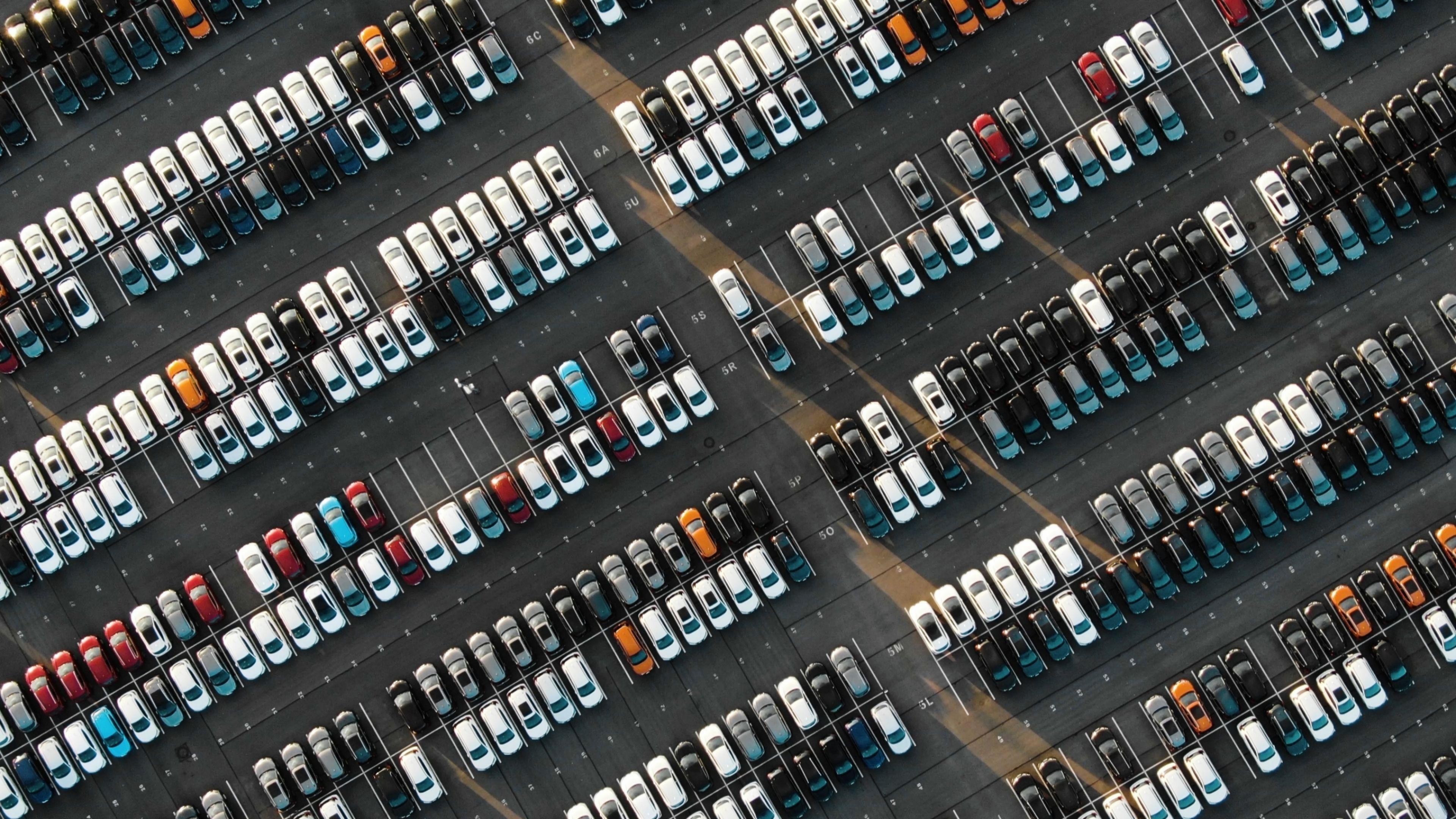 Parkeerplaats autos
