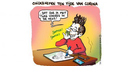 Cartoon gideonborman corona zzp