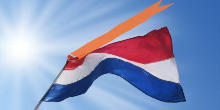 Nederlandse vlag rood wit blauw oranje bevrijdingsdag