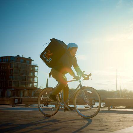 Bistroo bezorging eten fiets vk
