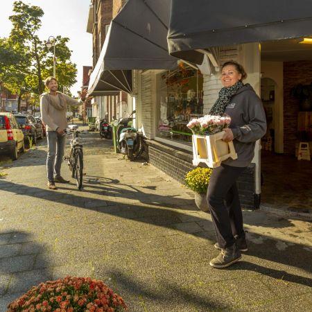 Bloemiste Patty Kames is enthousiast over het Ondernemers Portaal Den Haag