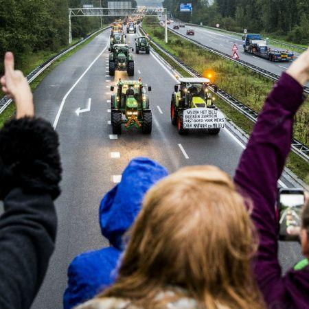 Boeren protest actie tractor