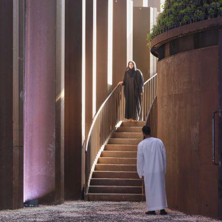 Dubai Expo man vrouw