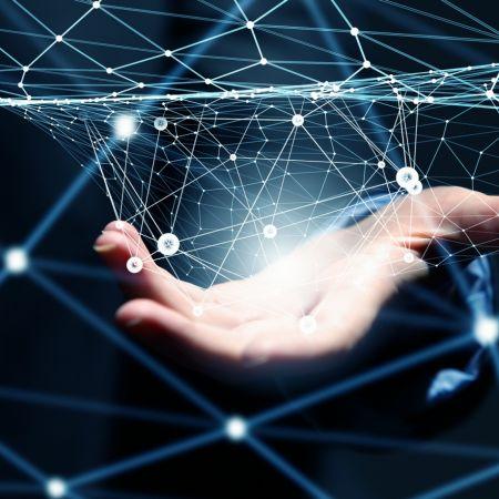 Innovatie netwerk hand