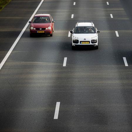 Auto snelweg werkverkeer vk