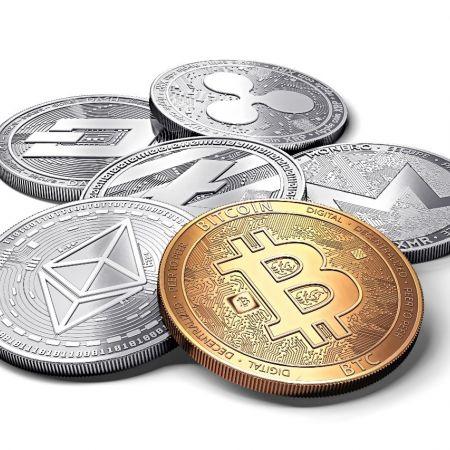 Cryptocurrency bitcoin munten