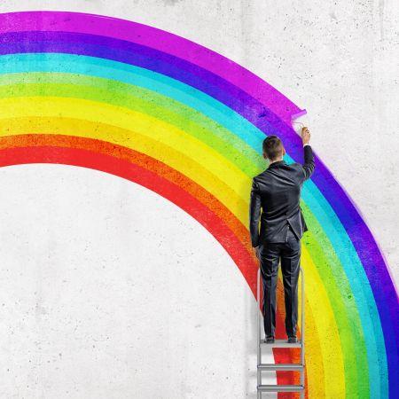 Diverstiteit lhbt werkvloer man regenboog