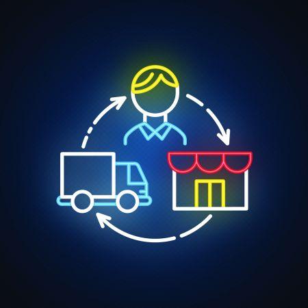 Dropshipping logo neon