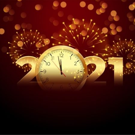 Gelukkig nieuwjaar vuurwerk 2021