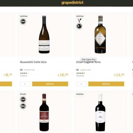 Grapedistrict homepage wijn