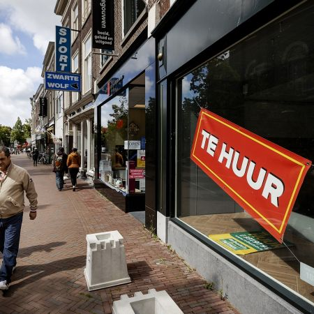 Leegstaand winkelpand leiden failliet