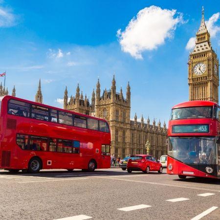 Londen big ben brexit dubbeldekker