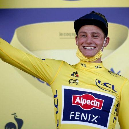 Mathieu van der poel gele trui tour de france