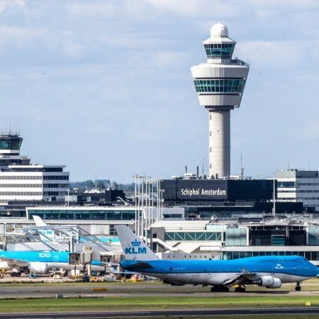 Schiphol luchthaven klm vliegtuig