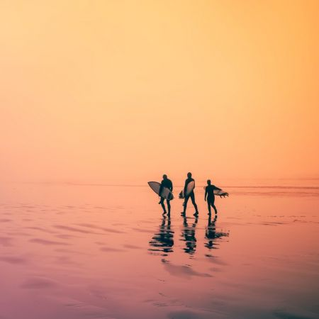 Surf vakantie benadeeld code oranje