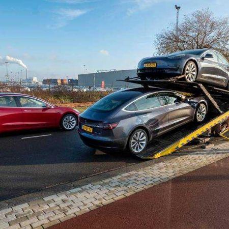 Tesla model 3 auto elektrisch