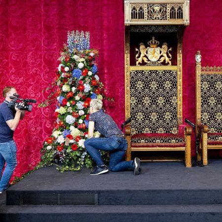Voorbereidingen prinsjesdag troonrede 2020