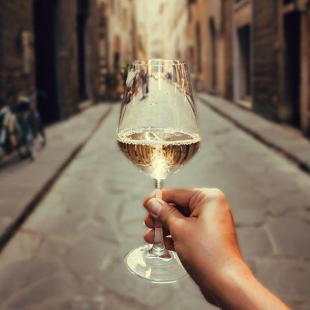 Wijn straat vakantie