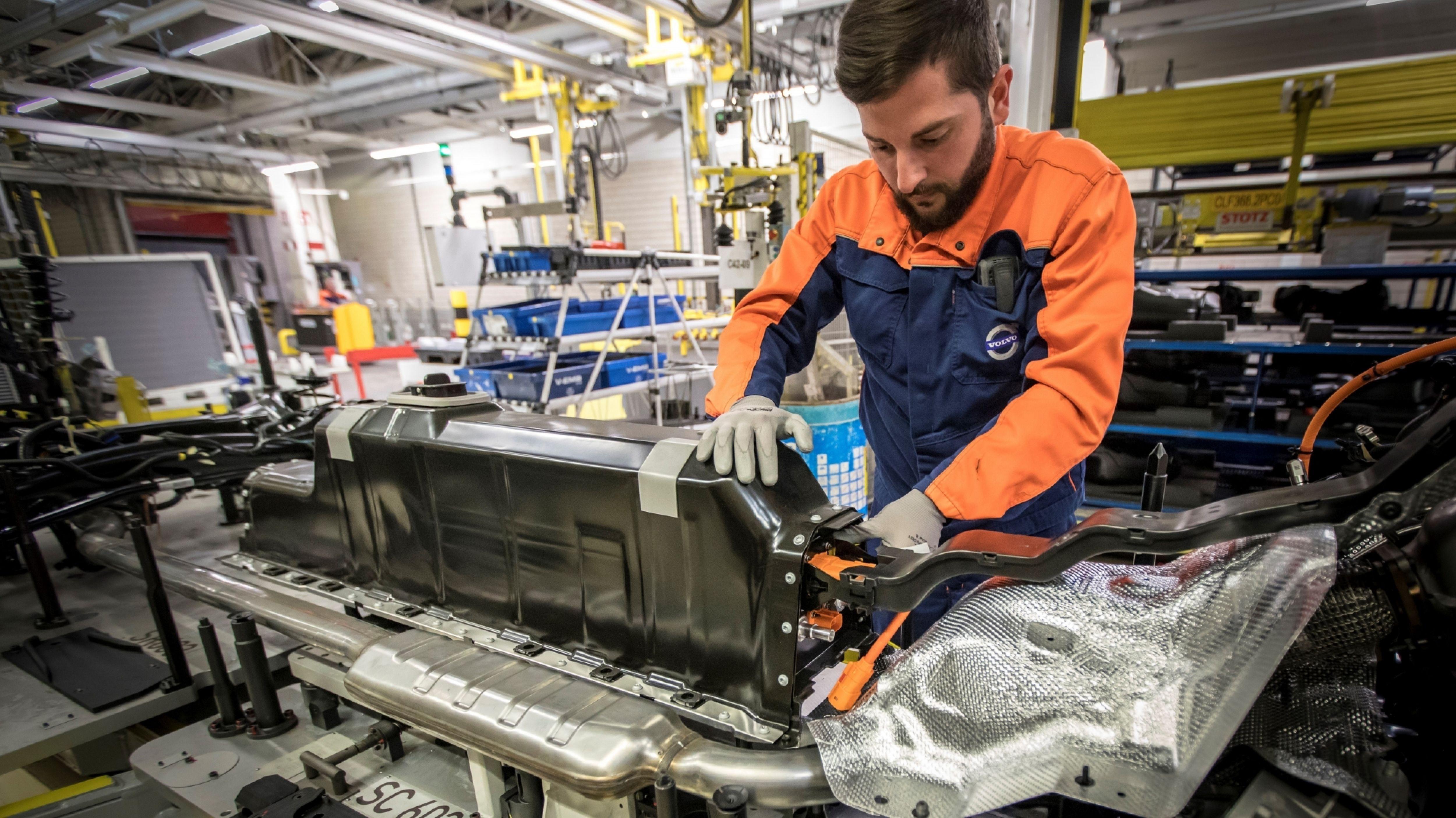 Volvo plugin batterypack gent