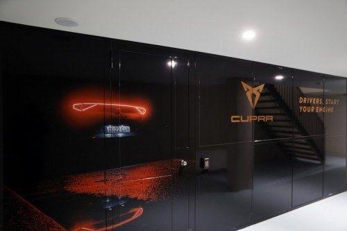 Seat cupra garage showroom marketing