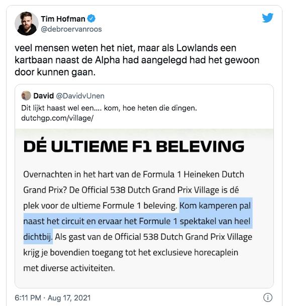 Tim hofman twitter