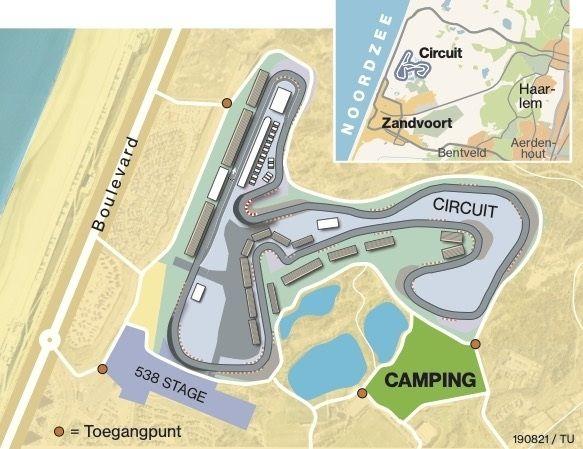 Camping Zandvoort dutch grand prix F1 DGP september