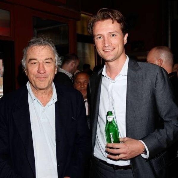 Dolf van den Brink in 2010 met acteur Robert de Niro
