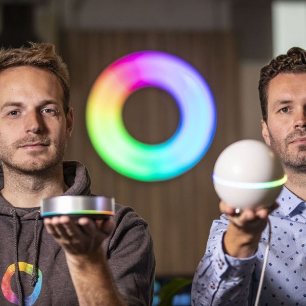 Homey robot Athom Stefan Witkamp en Emile Nijssen