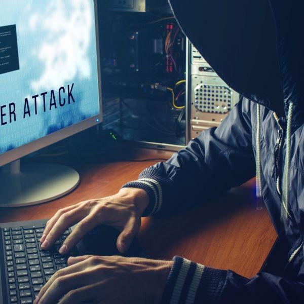 Cyberattack hacker computer