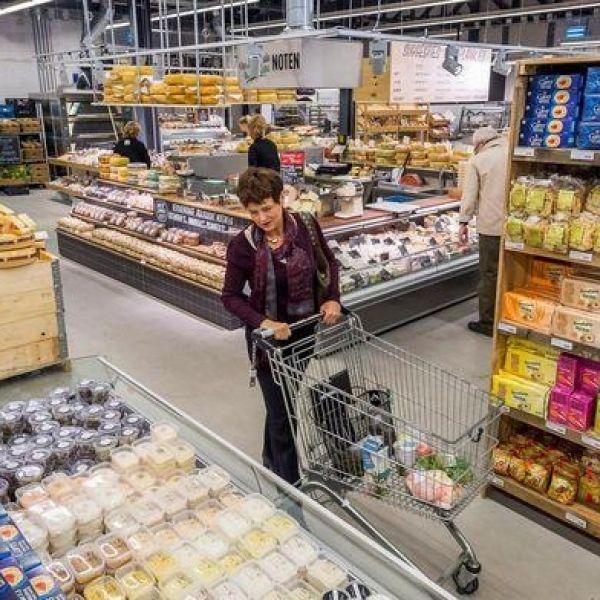 Duurzaam supermarkt winkel