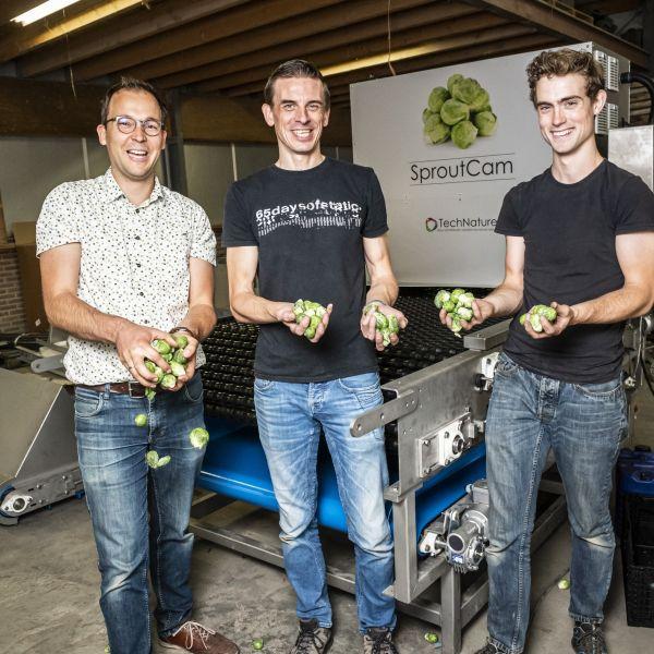 Spruitjes sorteermachine jonge ondernemers vierkant