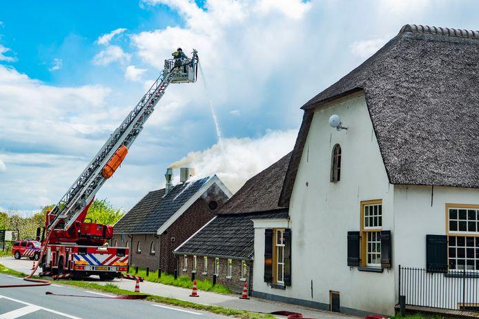 Brand in bakkerij van restaurant Vroeg in Bunnik in mei 2019