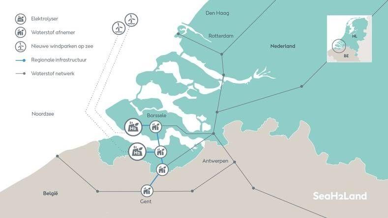 Groene waterstoffabriek zeeland orsted animatie 2